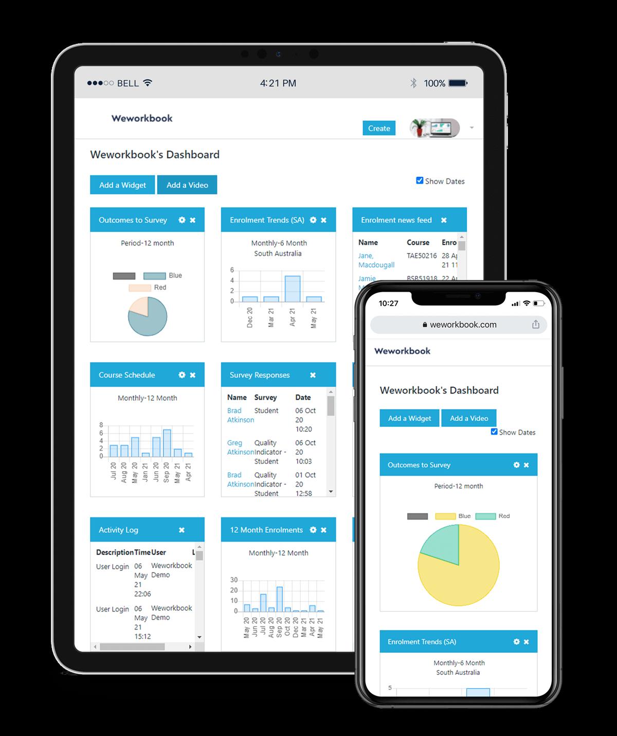 Weworkbook Student Management System interface